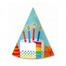 "Paper hats ""Colourful party"", 6 pcs"