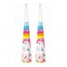 "Paper horns ""Rainbow Unicorn"", 6 pcs"