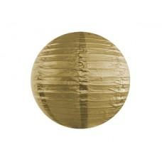 Paper lantern, gold, 35cm