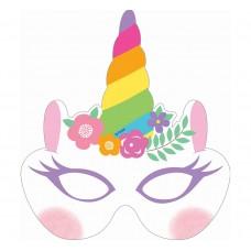 "Paper masks ""Rainbow Unicorn"", 6 pcs"