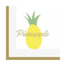 Paper napkins Pineapple, size 33x33 cm, 20 pcs