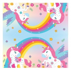 "Paper napkins ""Rainbow Unicorn"", size 33 x 33 cm, 20 pcs"