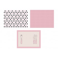 Paper placemats Sweets, mix, 40 x 30cm (1 pkt / 6 pc.)