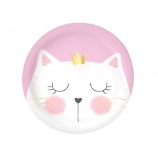 Paper plates Cat, 18 cm, 6 pcs.