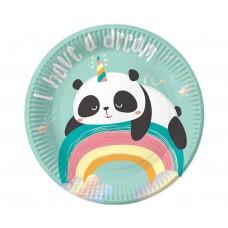 Paper plates Dreamy Panda, 18 cm, 6 pcs