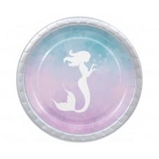 Paper plates Elegant Mermaid, 23 cm, 8 pcs