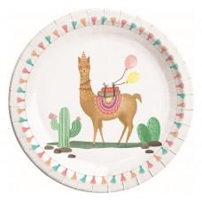 Paper plates Llama, 23 cm, 8 pcs.