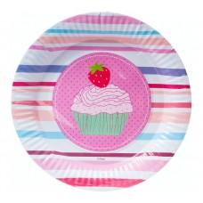 """Paper plates """"Muffins"""", 23 cm, 6 pcs"""