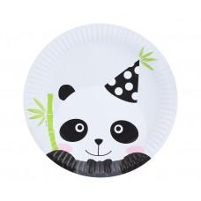 Paper plates PANDA, 23 cm, 6 pcs