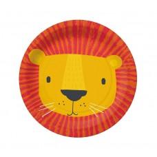 Paper plates PAW Lion Mask, 18 cm, 10 pcs.