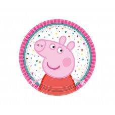 Paper plates Peppa Pig, 18 cm, 8 pcs