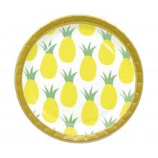 Paper plates Pineapple, 23 cm, 8 pcs