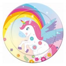 "Paper plates ""Rainbow Unicorn"", 18 cm, 6 pcs"