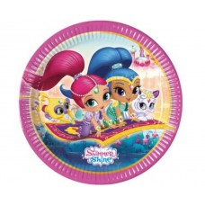 Paper plates Shimmer and Shine, 23 cm, 8 pcs.