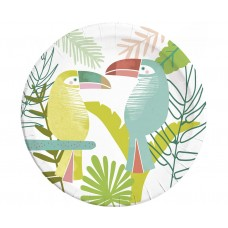 Paper plates Toucan, 23 cm, 8 pcs