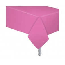 Paper tablecloth pink, size 132 x 183 cm