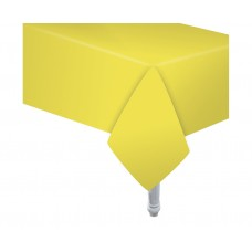 Paper tablecloth yellow, size 132 x 183 cm