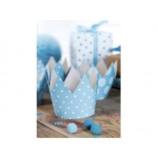 Party Crowns, sky-blue, 10cm (1 pack / 4 pc.)