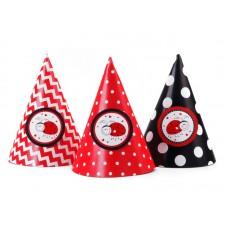 Party Hats Ladybugs, mix, 10cm (1 pkt / 6 pc.)