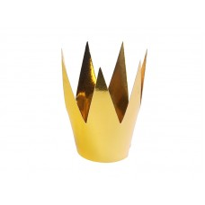 Party crowns, gold, 5.5cm (1 pack / 3 pc.)