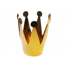Party crowns, gold, 7cm (1 pack / 3 pc.)