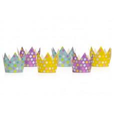 Party crowns, mix, 10cm (1 pack / 6 pc.)