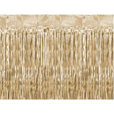 Party curtain, gold, 90x250cm