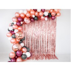 Party curtain, rose gold, 90x250cm