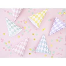 Party hats Yummy, mix, 10cm (1 pack / 6 pc.)