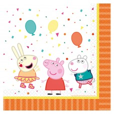 16 Lunch Napkins Peppa Pig 33 x 33 cm