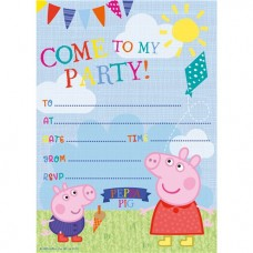 Peppa Pig Invites - Party Invitation Cards, 20 pcs
