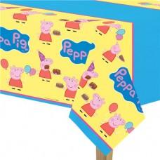 Peppa Pig Plastic Tablecover - 1.37m x 2.59m