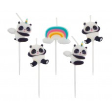 Pick candles Panda, 5 pcs