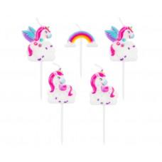 """Pick candles 'Unicorn"""", 5 pcs"""