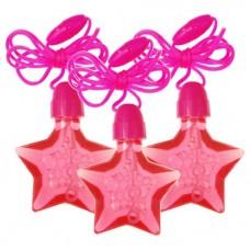 Pink Star Bubble Necklaces 4pcs