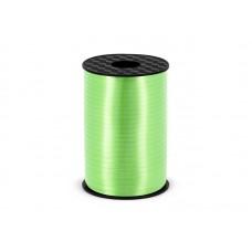 Plastic ribbon, green apple, 5mm/225m