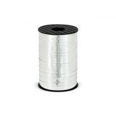 Plastic ribbon, silver, 5mm/225m