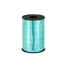 Plastic ribbon, turquoise, 5mm/225m