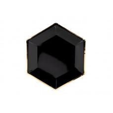 Plates Let's Celebrate, black, 23cm (1 pkt / 6 pc.)