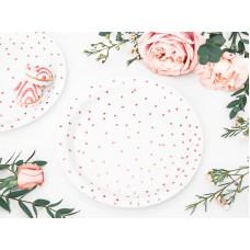 Plates Polka Dots, white, 18cm (1 pkt / 6 pc.)