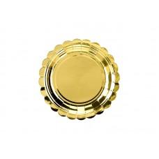 Plates, gold, 18cm (1 pkt / 6 pc.)