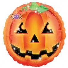 """Playful Pumpkin Foil Balloon - 18"""" Foil"""