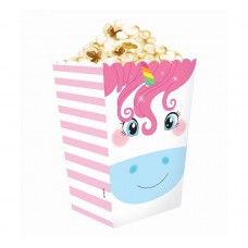 Popcorn container Rainbow Unicorn, 4 pcs