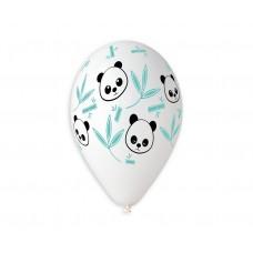 Premium balloons (suitable for helium) Panda & Bamboo, 30см / 5 pcs.