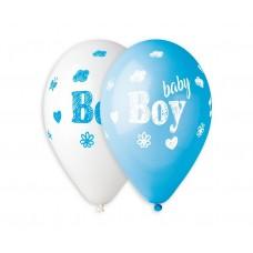 "Premium balloons (suitable for helium) Baby Boy 13"" / 5 pcs."
