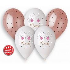 """Premium helium balloons Cat, 13"""" / 5 pcs."""