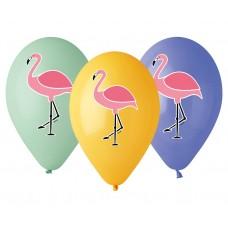 "Premium helium balloons ""Flamingo"", 13"" / 5 pcs"