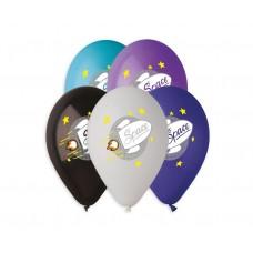"Premium helium balloons Space (rocket), 13"" / 5 pcs."