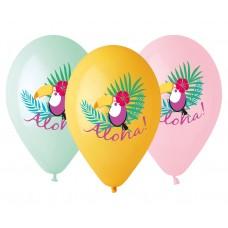 "Premium helium balloons ""Toucan - Aloha"", 13"" / 5 pcs"