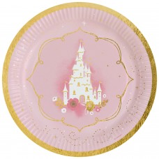 8 Plates Princess for a Day Paper Round 22.8 cm